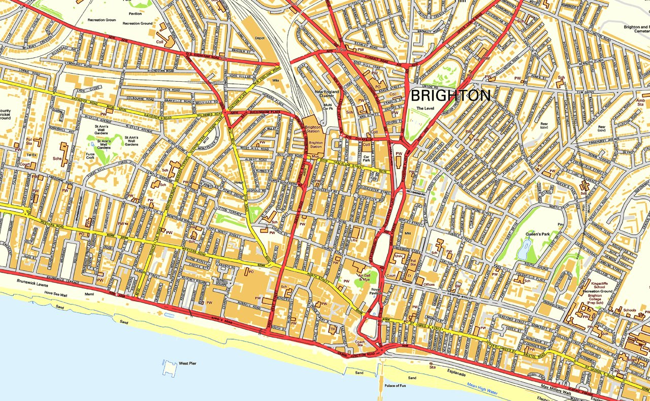 Brighton Street Map Paper 220 x 130 cm APPROX Amazoncouk