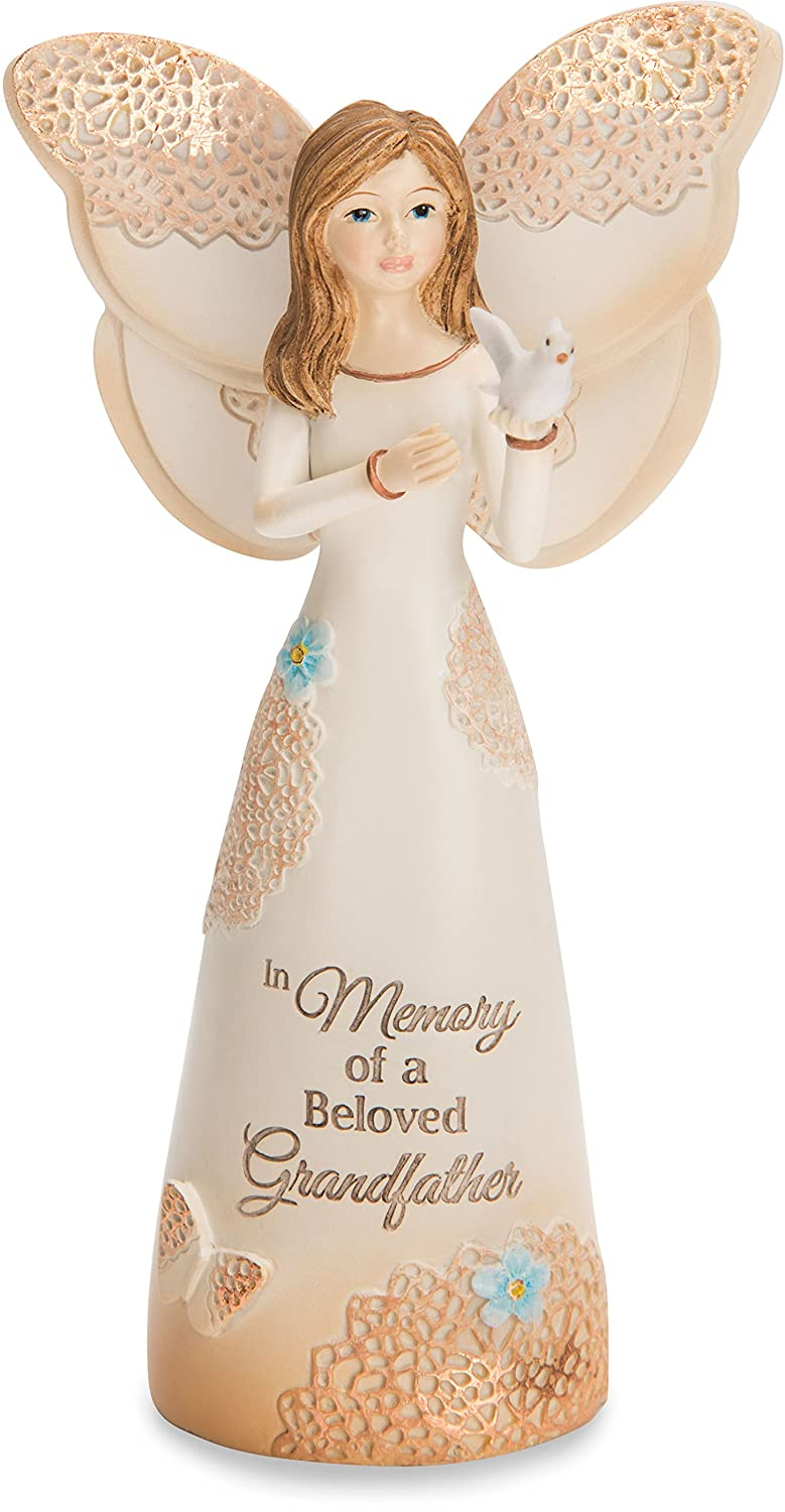 Light Your Way Pavilion Gift Company 19166 In Memory of a Beloved Grandfather 5.5 Angel Figurine