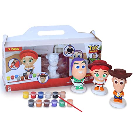 Disney Toy Story Set Para Pintar Figuras De Woody Buzz