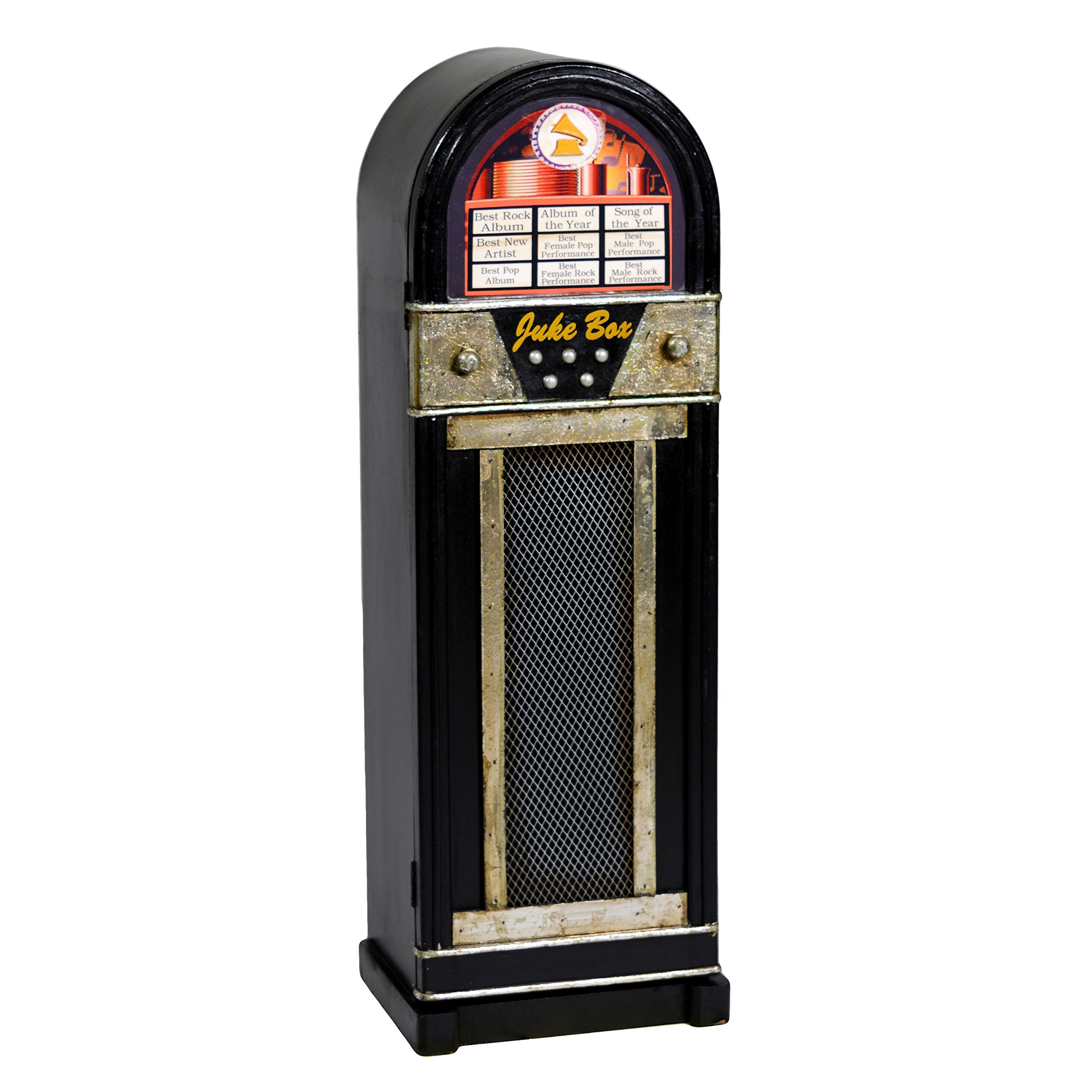 VACCHETTI Joseph 8033760000Juke Box 1Door Cabinet, Wood, Black, 30x 23x 88cm by Vacchetti Giuseppe (Image #1)