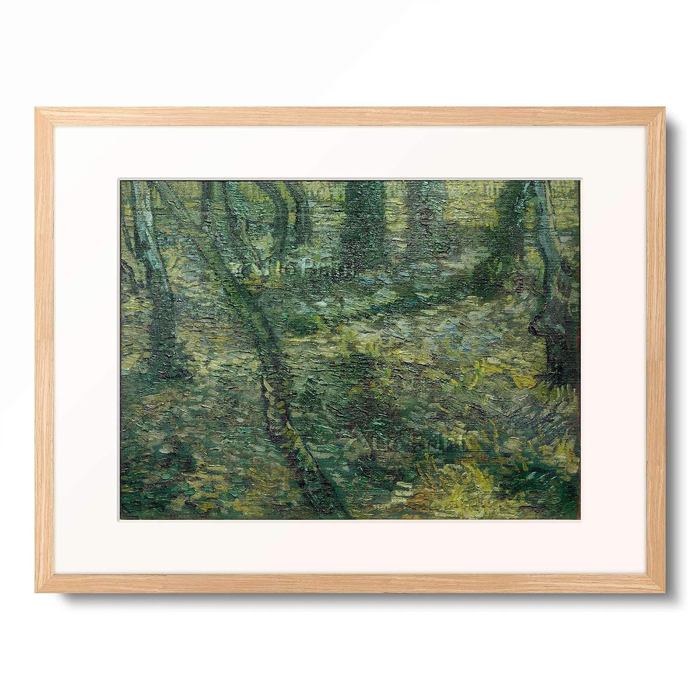 フィンセントファンゴッホ Vincent Willem van Gogh 「Undergrowth with Ivy」 額装アート作品 B07PGFRBNV 01.木製額 12mm(木地) XL(額内寸 727mm×545mm) XL(額内寸 727mm×545mm) 01.木製額 12mm(木地)