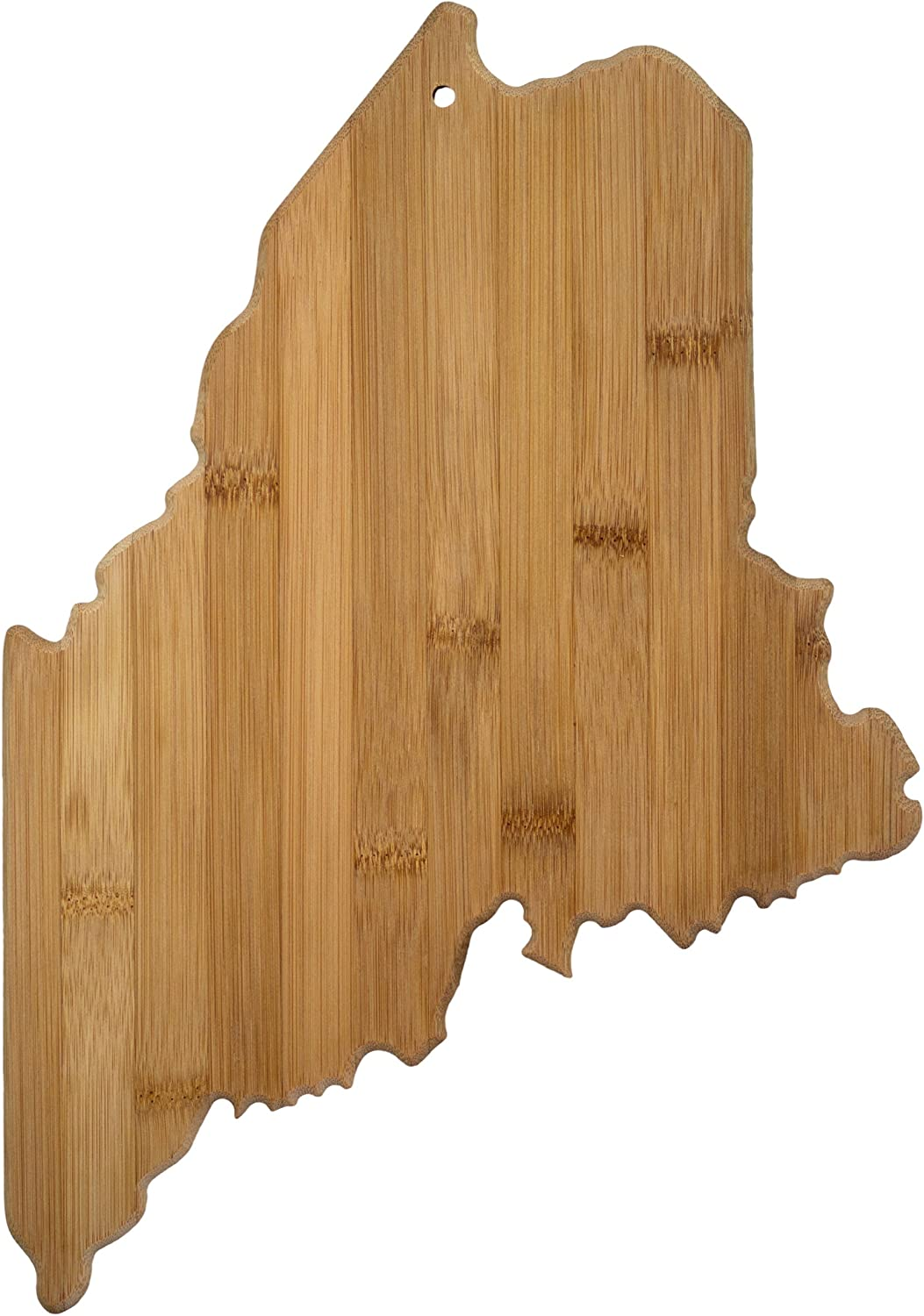 Totally Bamboo Maine State Shaped Bamboo Serving & Cutting Board