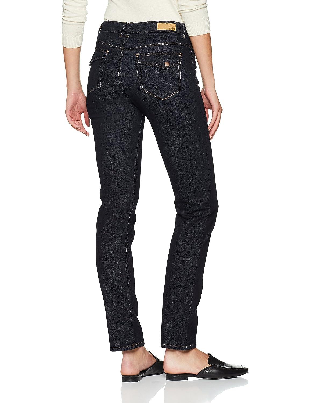 edc by ESPRIT Damen Straight Jeans 088CC1B019 Blau (Blue