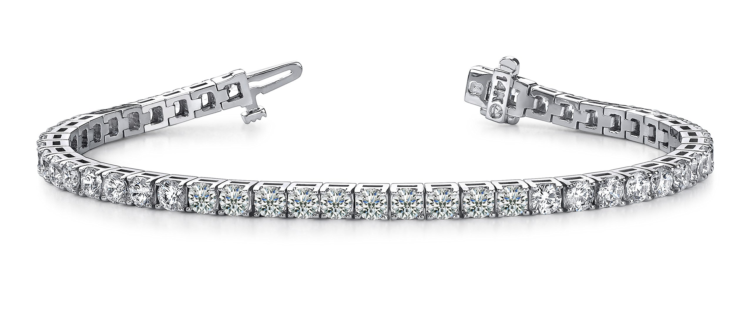 6 Carat Classic Diamond Tennis Bracelet 14K White Gold Ultra Premium Collection