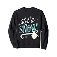 Let It Snow Design With Penguin Sweatshirt