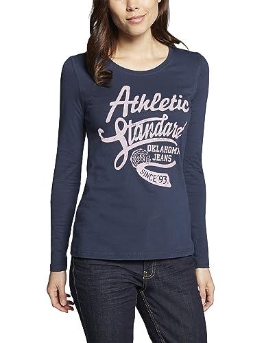 Oklahoma Jeans Camiseta de Manga Larga para Mujer