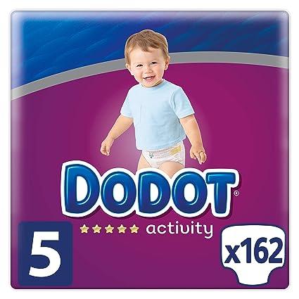 Dodot Activity Pañales Talla 5, 162 Pañales, 11-16 kg