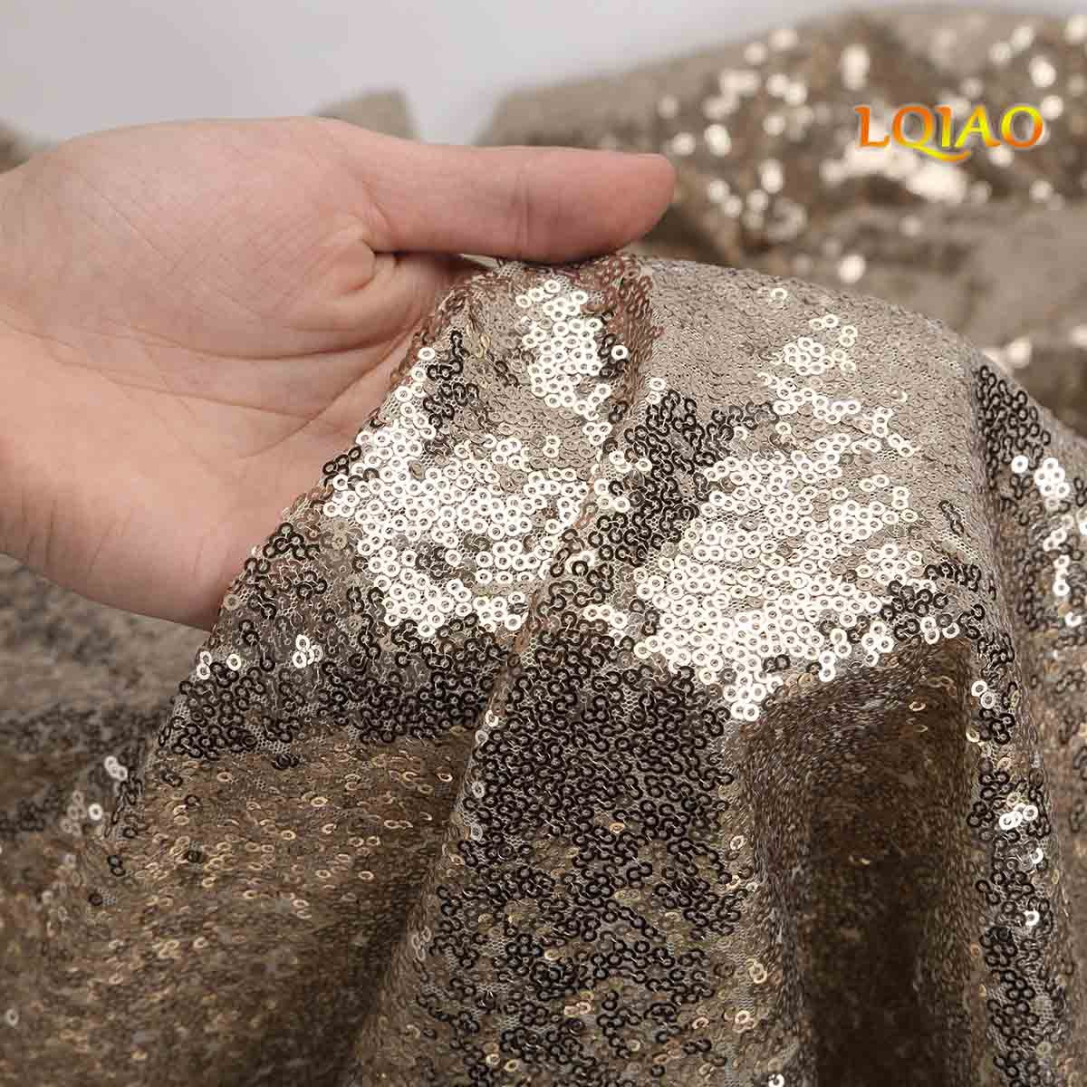LQIAO Sequin Curtain 10X10FT-Light Gold Sequin Backdrop Wedding Photo Booth Door Window Curtain for Halloween Party Wedding Decoration by LQIAO (Image #3)