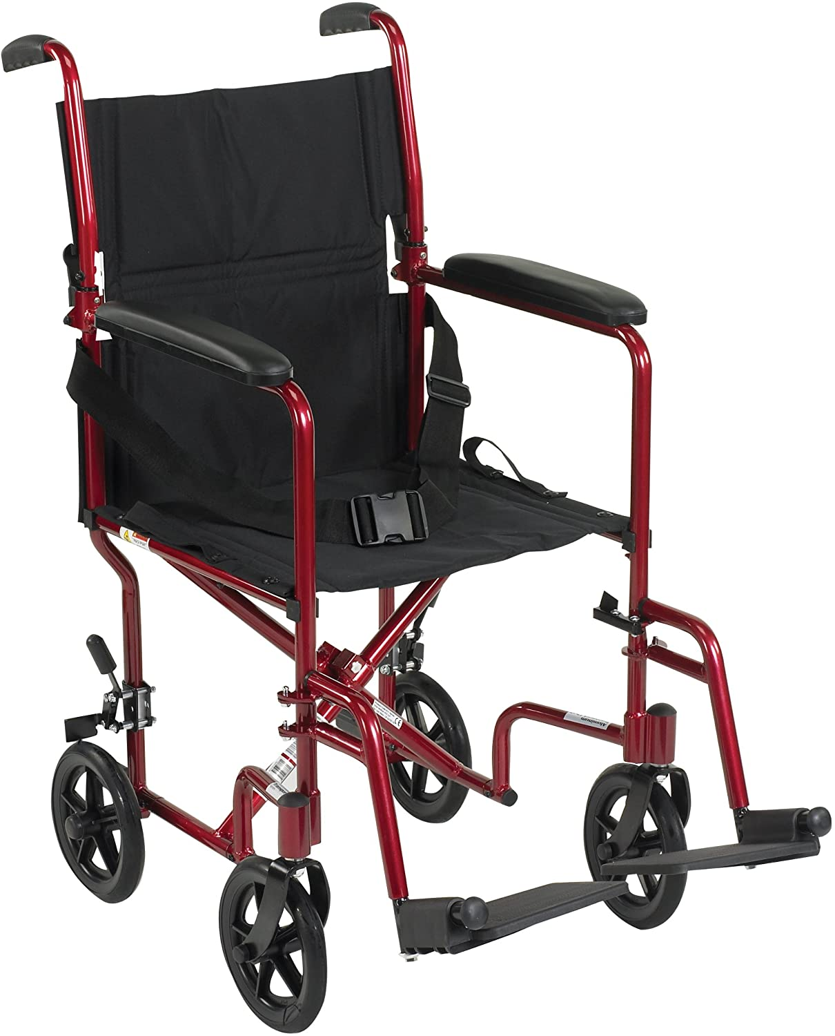 "Drive Medical Aluminum Transport Chair, 19"", Red 81p6Olzt9XL"