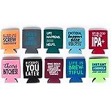 Beer Can Slim Coolie (Funny 10-Pack)