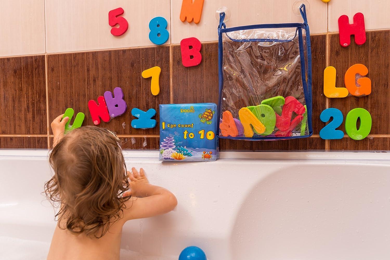 Gufolino Baby Bath Toys - 36 Foam Letters and Numbers + Bathtub Toys ...