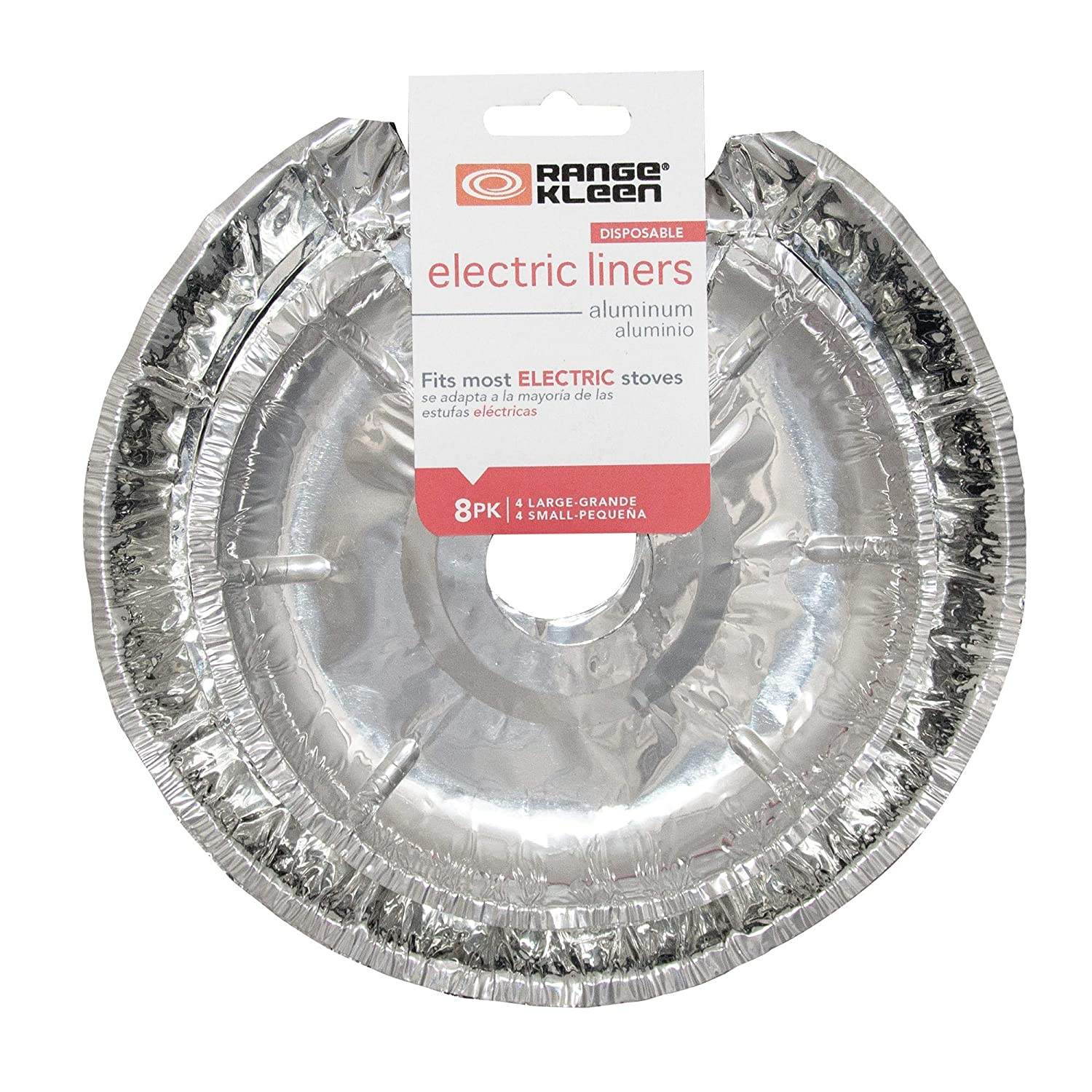 Amazon.com: Range Kleen Style D Heavy Duty Chrome 4-Pack Drip Pans with Trim Rings AND 8 Foil Burner Liners…: Home Improvement