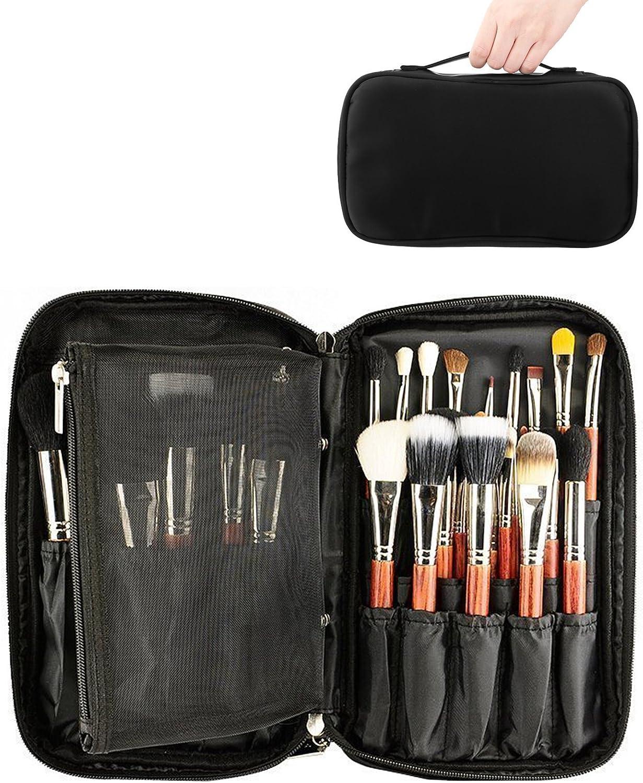 ONEGenug Maquillaje Cepillos Organizador Bolso Cosmético Herramientas Bolso Belleza Estuche con Correa Cinturón: Amazon.es: Equipaje