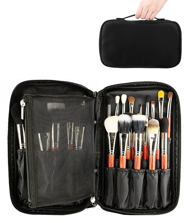 ONEGenug Maquillage Pinceaux Organisateur Sac Cosmétique Outils Sac À Main Beauté Étui avec Porte-Courroie
