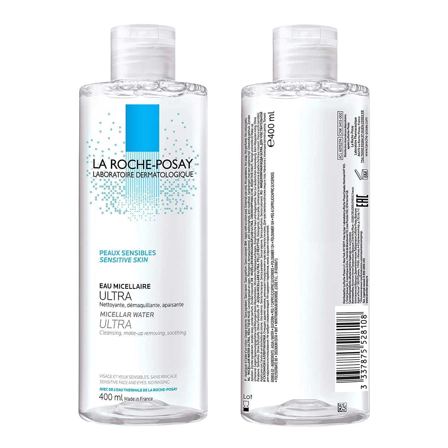 La Roche-Posay Micellar Cleansing Water, Physiologique Micellar Water for Ultra  Sensitive Skin with Glycerin, Alcohol-Free & Hypoallergenic, 400ml:  Amazon.ca: Luxury Beauty