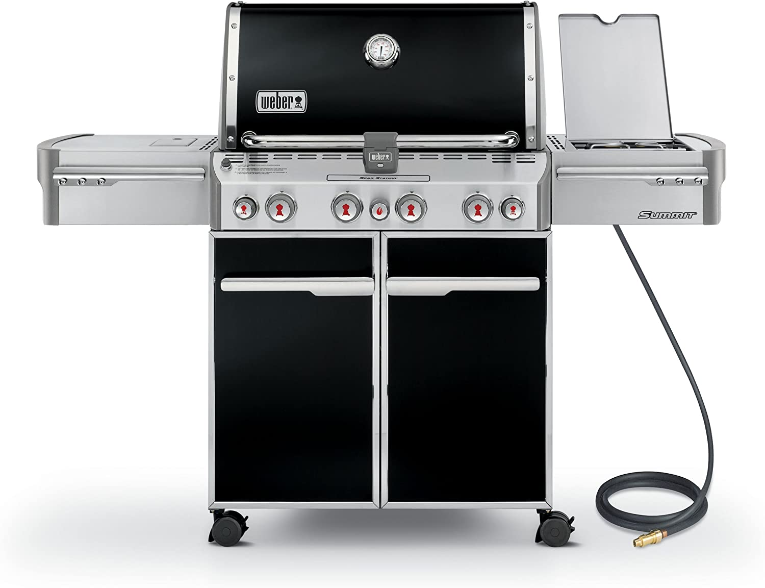 Weber 7271001 Summit E-470 4-Burner Natural Gas Grill, Black
