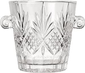 Amazon Com Godinger Dublin Ice Bucket Clear Kitchen