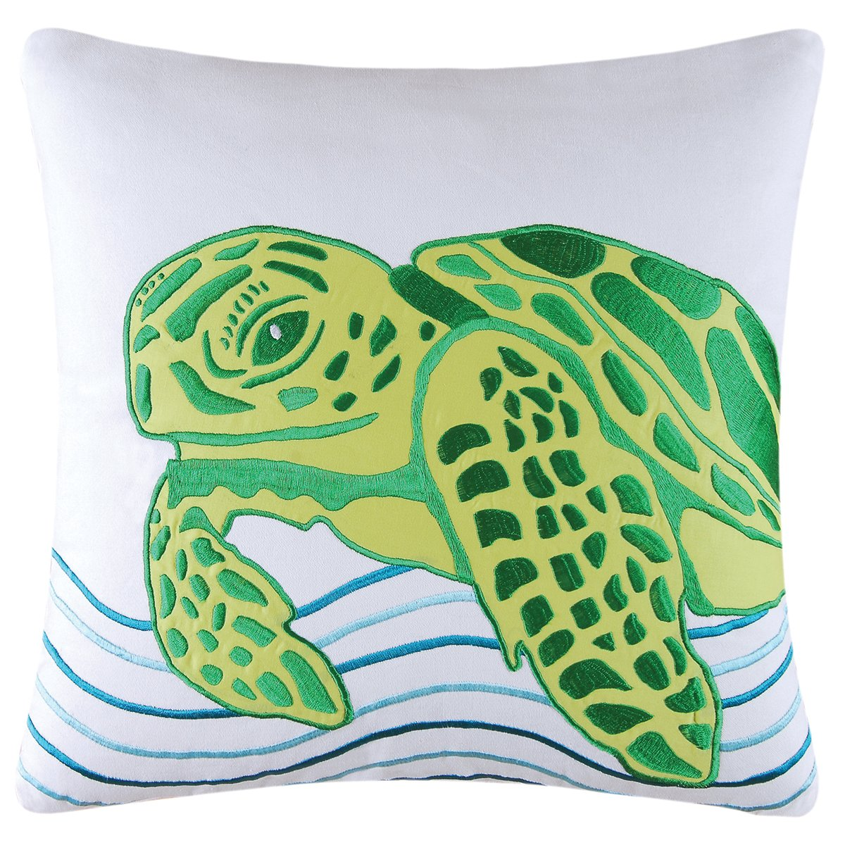 C&F Home 842981668C Turtle Pillow, Green
