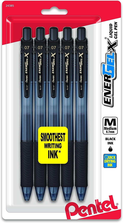 pentel C//12 bolígrafo energel x 107 color negro 0.7 mm