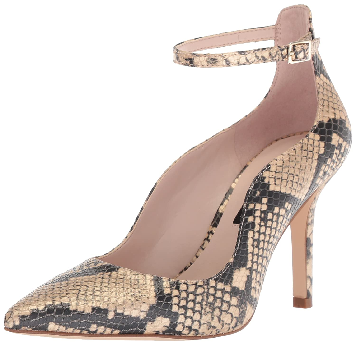 Nine West Women's Marquisa Reptile Print Pump B074NJYB78 10.5 B(M) US|Light Gold Reptile Print