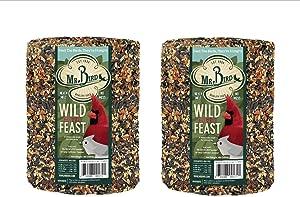 2-Pack of Mr. Bird Wild Bird Feast Birdseed Large Cylinder 4 lbs.