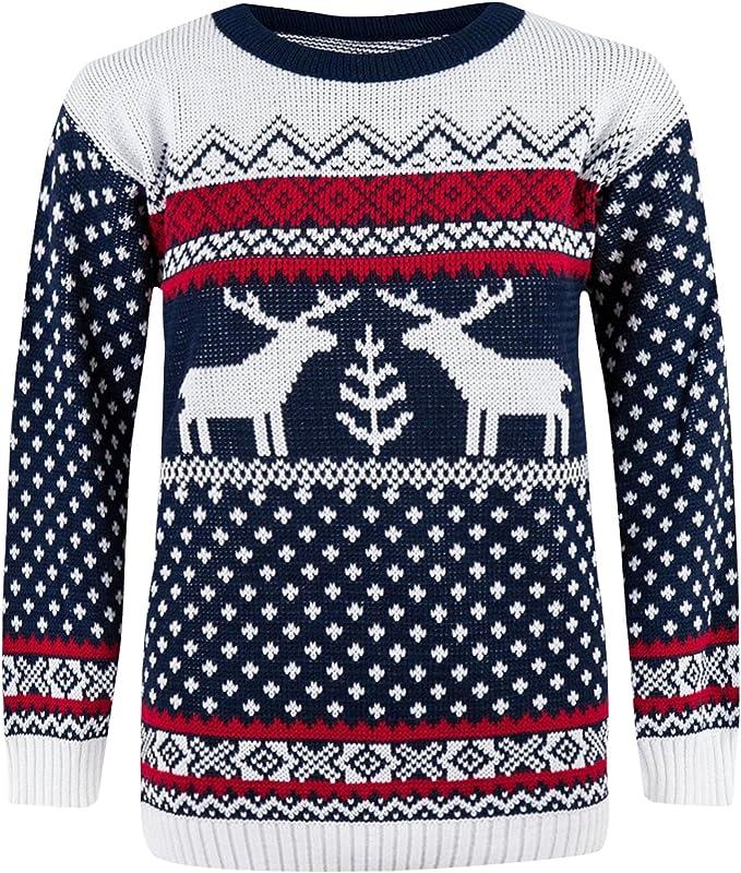 Femme Rudolph Flocon De Neige Rétro Nouveauté Noël Pull Vintage Sweater