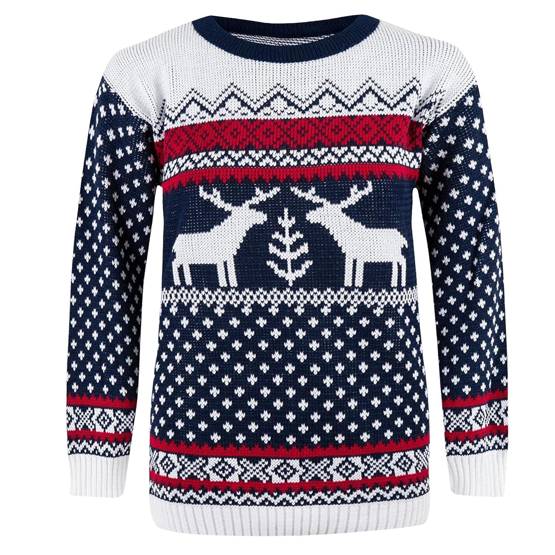 pull de noel pour homme CostMad pour homme avec motif de Noël en tricot Motif cerf rétro  pull de noel pour homme