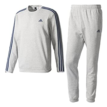 adidas CO Chill Out TS Tracksuit for Man, Grey (Brgrin/Maruni),