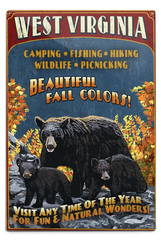 専門店では West Virginia x – Sign Black Black Bear Family Vintage Sign 12 x 18 Metal Sign LANT-41027-12x18M B06Y1GFCGD 12 x 18 Metal Sign, 安心安全な野菜クリーンリーフ信州:c5bb8448 --- arianechie.dominiotemporario.com