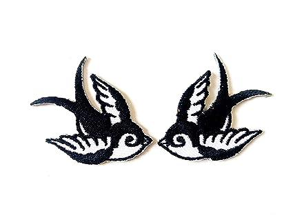 455d31b2e402e Amazon.com: Tyga_Thai Brand Set 2 pcs. Mini Cute Little Bird Tattoo ...