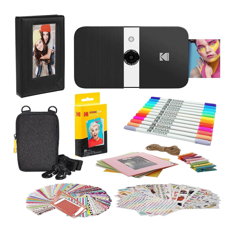 KODAK Smile Impresora Digital instantánea (Blanco/Negro ...