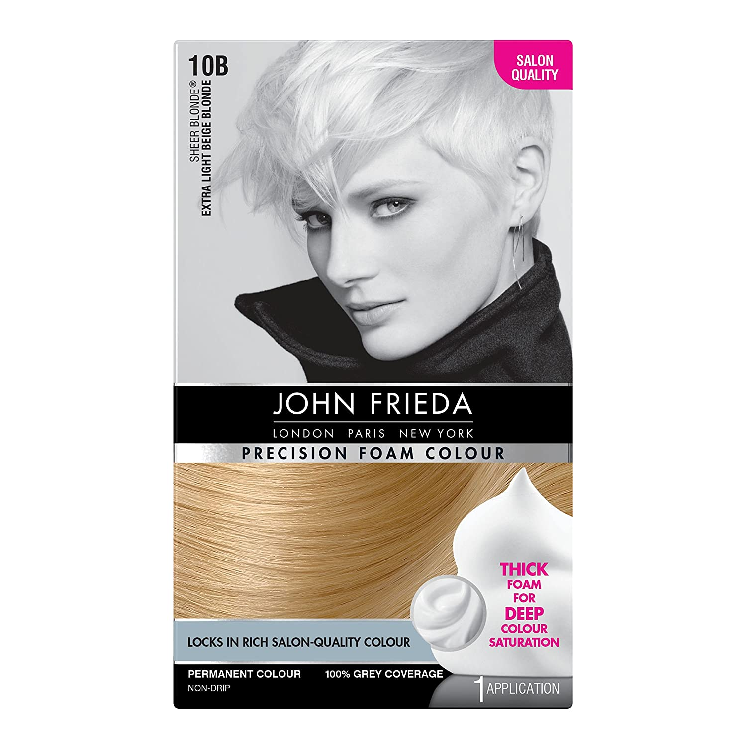 John Frieda Precision Foam Colour Hair Dye, Number 9A, Light Ash Blonde KAO Brands 2342900