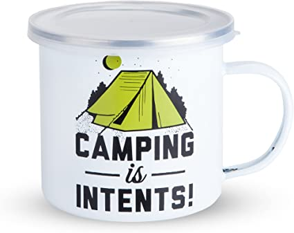 Amazon Com Foster Rye 3858 Coffee Travel Mug Enamel Camping And Outdoor Glass Multicolor Set Of 1 Home Kitchen