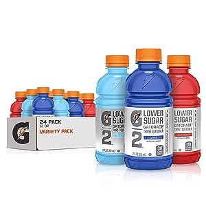 Gatorade G2 Thirst Quencher, 3 Flavor Forever Variety Pack, 12oz Bottles (24 Pack)