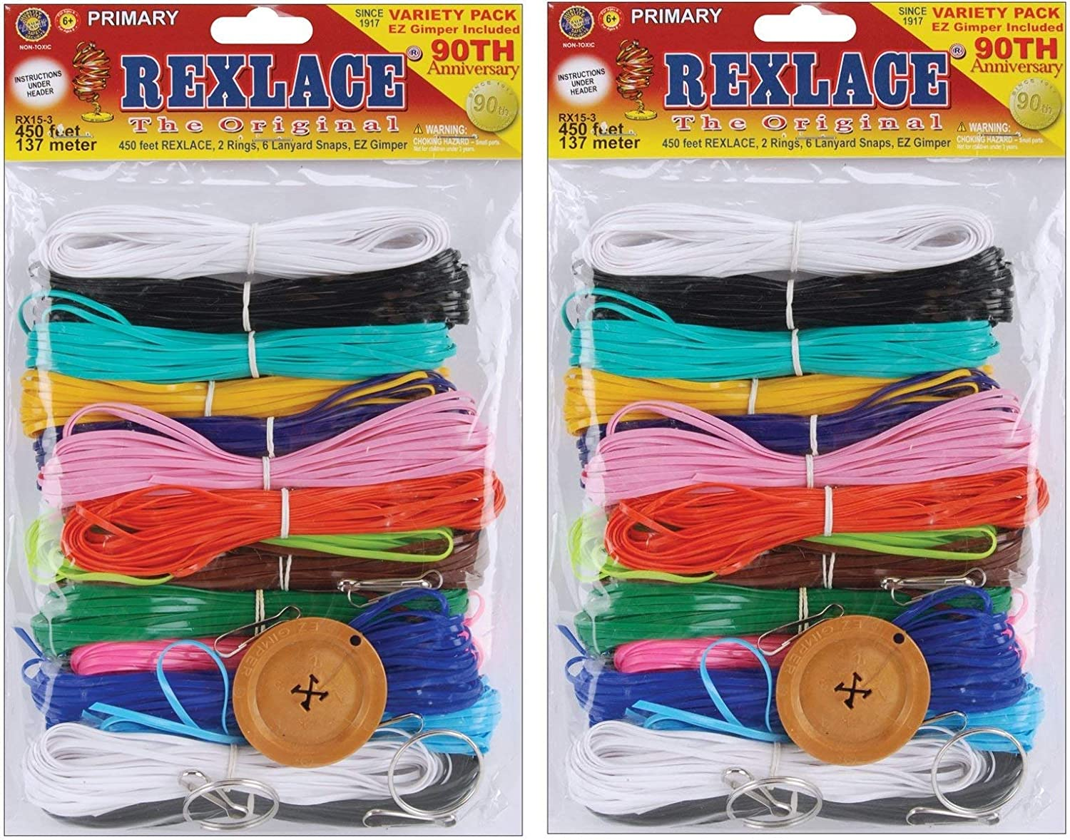 66d2cb1404a3f Pepperell RX-153 Rexlace Plastic Lacing Cord, 450-Feet, Primary