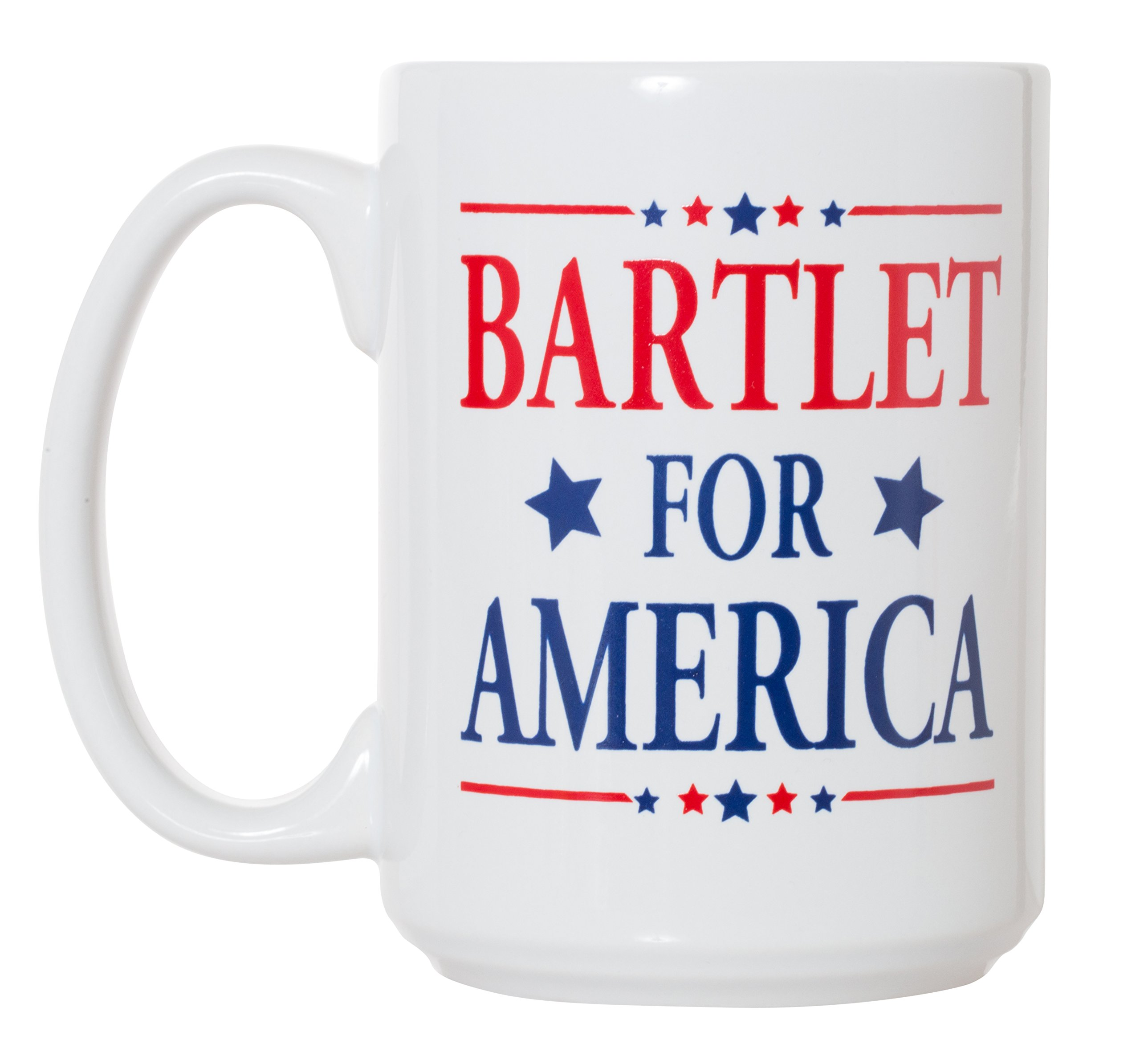 Bartlet for America West Wing Inspired Campaign Mug - 15oz Deluxe Double-Sided Coffee Tea Mug