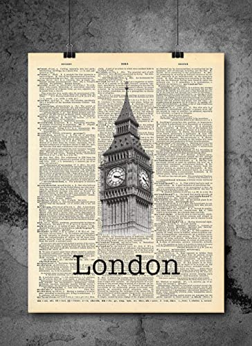 Amazon Com London Big Ben Vintage Dictionary Print 8x10 Inch Home