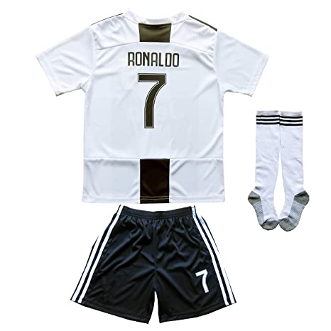 3d99750c8 FCRM 2018/2019 New #7 Cristiano Ronaldo Kids Home Soccer Jersey & Shorts  Youth