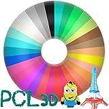 AUBECO 30 Colors 3D Printing Pen PCL Filament Refills, 1.75mm PCL Filament, Each Color 10 Feet, Total 300 Feet Lengths, High-