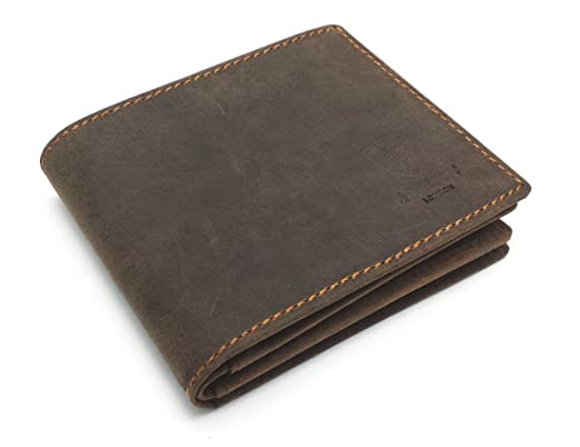 396d723a12f3 RFID BLOCKING Protection Distressed Brown Genuine Leather J Wilson London  Mens Wallet With Large Zip Coin Pocket Gift Boxed