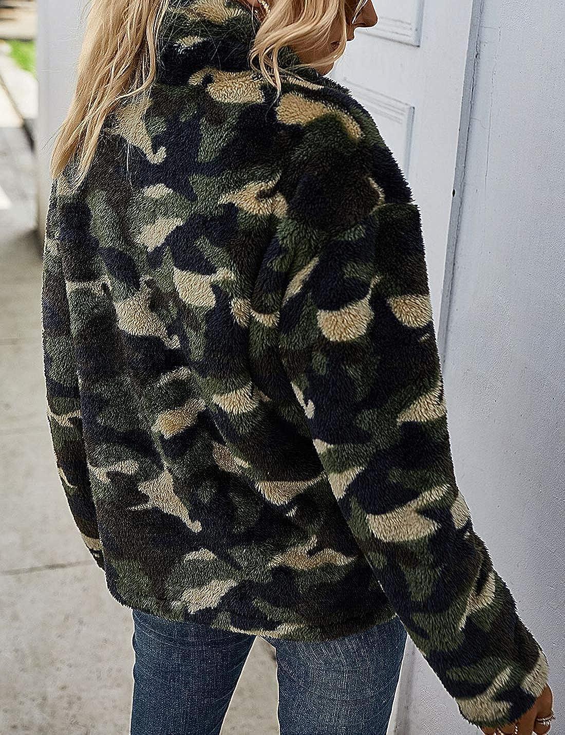 Camille Femme Neige Camouflage Laine Polaire Fermeture Zippée à Capuche
