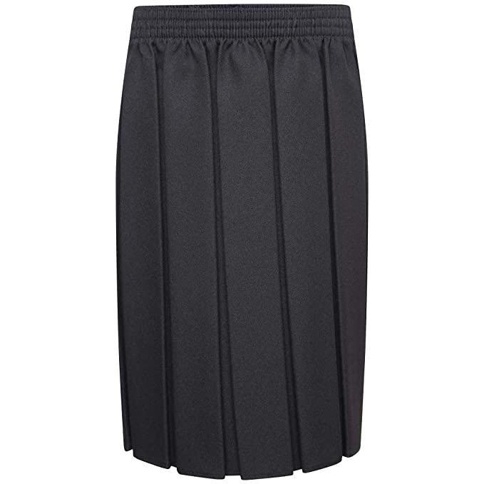 Girls Women All Round Pleated School Skirt With Side Zip 7 to 16 UK 8 to UK 20