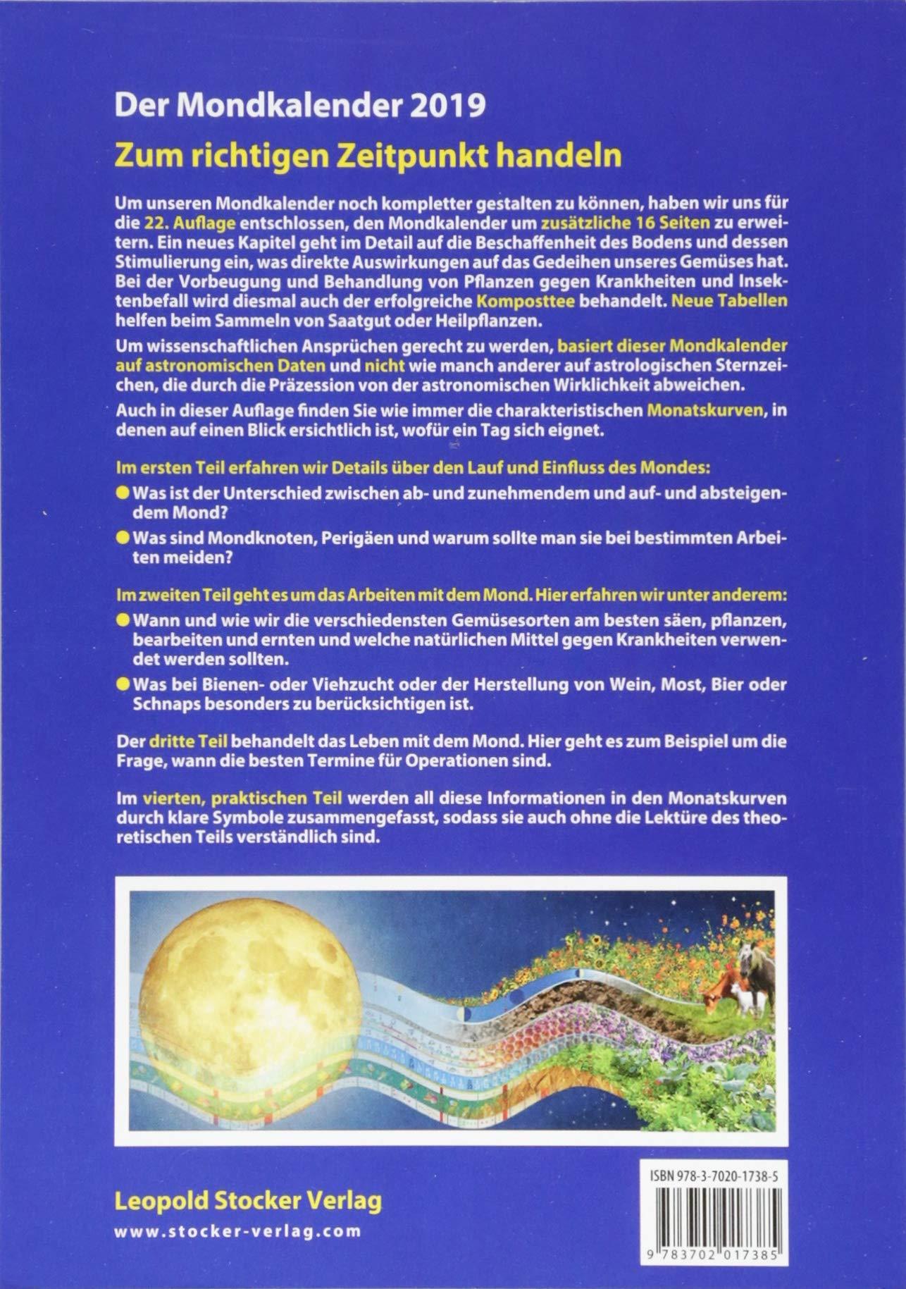 Mit Dem Mond Durchs Gartenjahr 2019 Leben Und Arbeiten In Harmonie