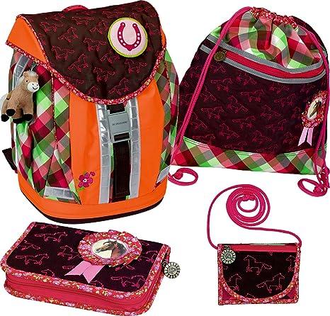 Horse Caballo Amigos Estilo Flex escarapela de mochila escolar Kit, Fluorescente, Modelo # 10862