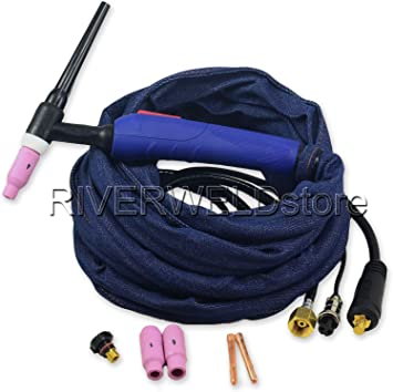 WP-17FV-12 12-Foot 150Amp Tig Welding Torch Complete With Flexible /& Valve Head