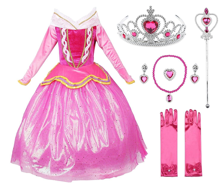 JerrisApparel Rosa vestido de princesa Disfraz Ni/ña Vestido de fiesta vestido de Ceremonia
