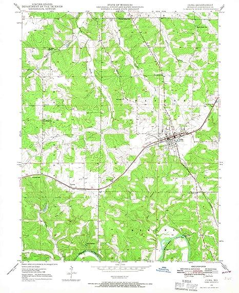 Amazon Com Yellowmaps Cuba Mo Topo Map 1 24000 Scale 7 5 X 7 5