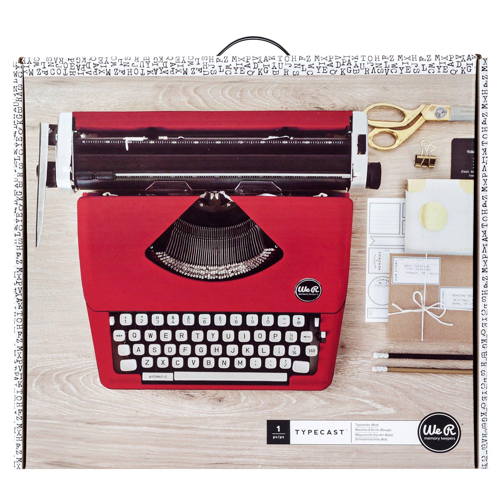 Typecast Retro Typewriter by We R Memory Keepers   Red by We R Memory Keepers