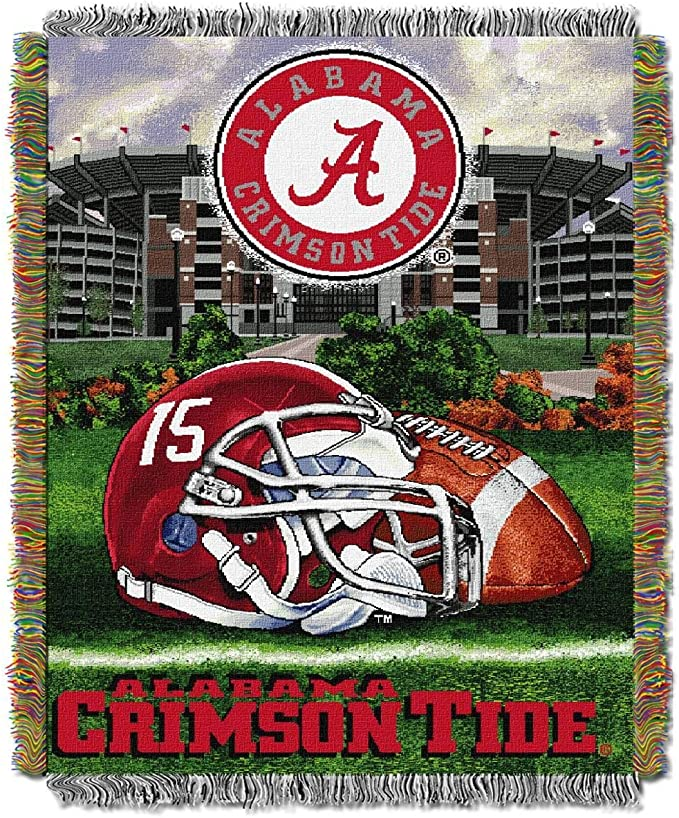 Officially Licensed NCAA Commemorative Woven Tapestry Throw Blanket 48 x 60 Multi Color