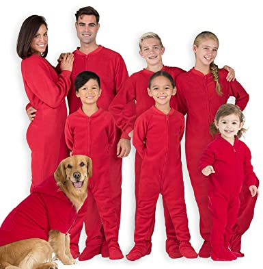 7be68c8bc9de Amazon.com  Footed Pajamas - Family Matching Chille Red Onesies for ...